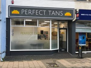 perfect tans shop front